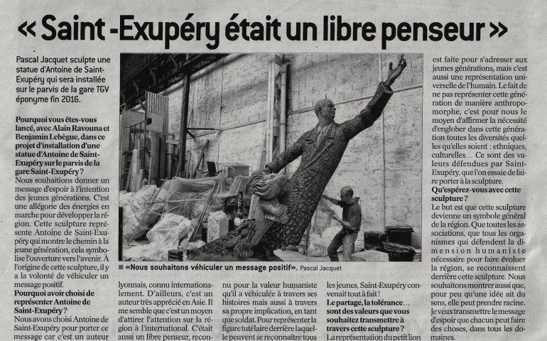Article pour la presentation de la statue monumentale