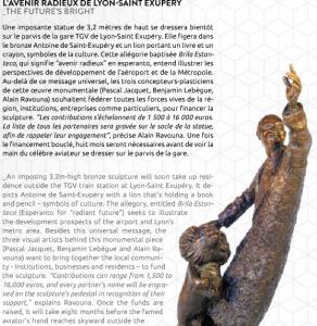 Un projet de sculpture de l'avenir radieux à Lyon