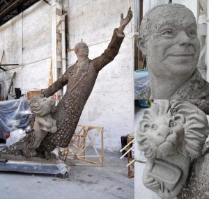 Statue Saint Exupery en argile